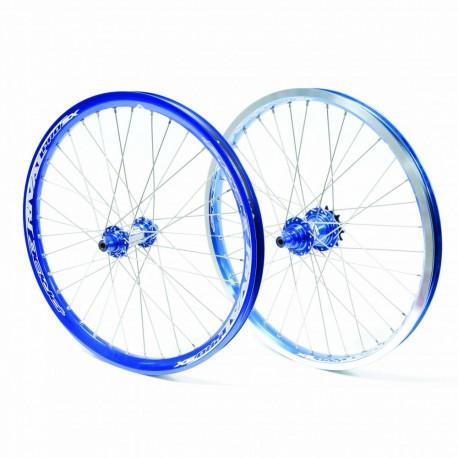 Paire de roue PRIDE RACING PRO SX bleu