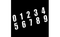 Numéro de plaque MAIKUN blanc