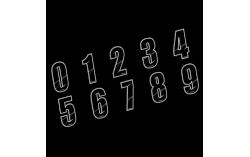 Numéro de plaque MAIKUN noir 10cm