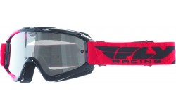 Masque FLY ZONE blue/hi-viz - Ecran blue chrome/smoke lens