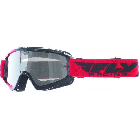 Masque FLY ZONE blue/hi-viz - Ecran blue chrome/smoke lens