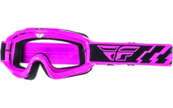 Masque FLY ZONE black/orange - Ecran clear/flash chrome lens