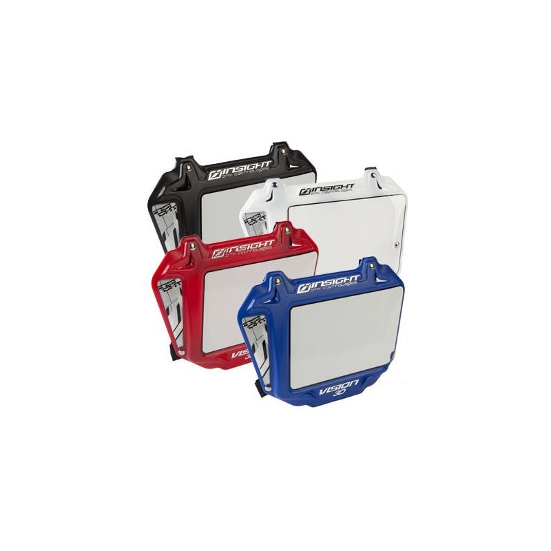 Plaque bmx INSIGHT Vision 3D Expert Rouge Bleu Blanc Noir 40/%
