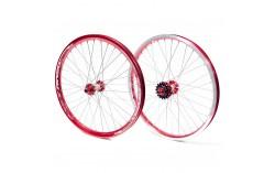 Paire de roue PRIDE RACING PRO SX rouge