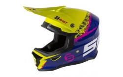 CASQUE SHOT FURIOUS KID STORM LIME NAVY GLOSSY KID